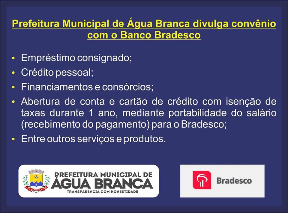 582c34a12a Prefeitura e Banco Bradesco anunciam parcerias